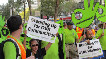 Across nation, Walmart workers protest illegal firings