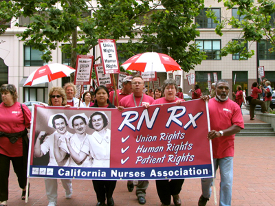 Nurses take to streets for union, patient rights
