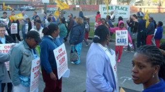Nursing home workers strike hard-line Spectrum Corp.
