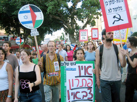 Israelis march for peace