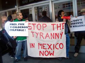 Denouncing the killings in Oaxaca