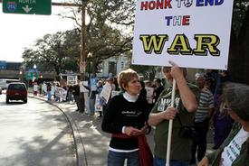 Local antiwar protests sweep the nation
