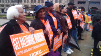 Baltimore workers rally for jobs