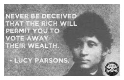 Today in labor history: Lucy Parsons leads march in Chicago