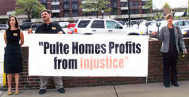 Workers rally to build justice at Pulte