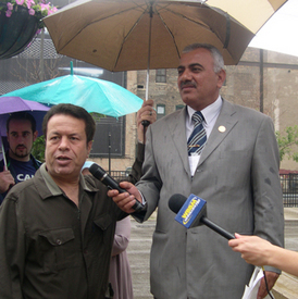 Iraqi labor leaders visit Haymarket memorial