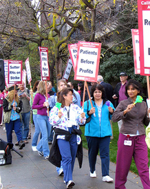 RNs strike over patient care