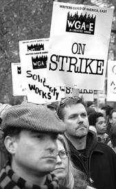Fans back writers in week 4 of strike