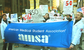 Medical students rally for World AIDS Day