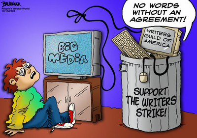 CARTOON: Support the writers