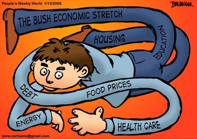 CARTOON: Bush economic stretch