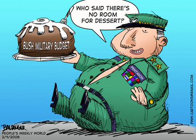CARTOON: Bush military budget