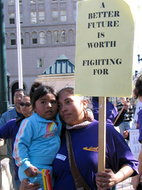 Janitors kick off contract campaign