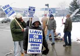 UAW workers go on strike at American Axle