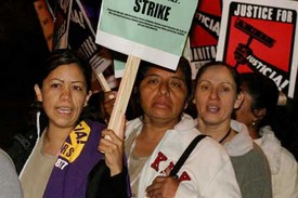 Photo gallery: Silicon Valley janitors go on strike