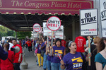A small picket line turns into a mass outpouring