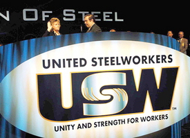 Steelworkers vow to fight racism, elect Obama
