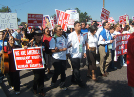 Denver march urges Dems to back immigrant rights