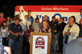 Angelenos call: Good jobs, dignity, elect Obama