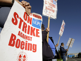 Machinists show grit as strike enters month two