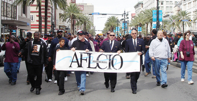 REPORTERS NOTEBOOK: AFL-CIO marks King Day with action
