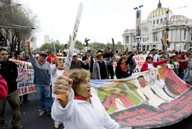 Worker-farmer protests rock Mexico