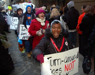 Rally calls for moratorium on school closings