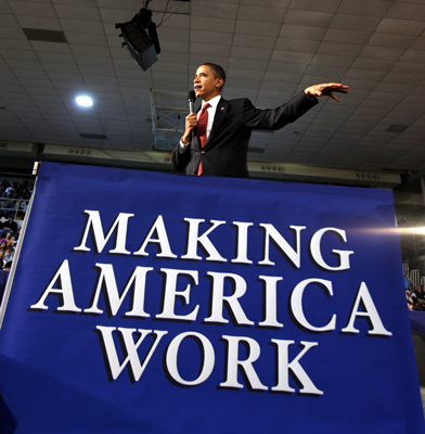 America agrees with president: Its about jobs, jobs, jobs