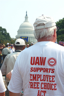 1.5 million to Capitol Hill: Pass Employee Free Choice Act