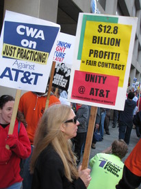 AT&T workers warn about possible strike