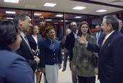 Raul Castro meets US lawmakers