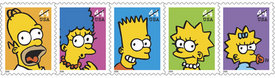 Simpsons stamps coming with rate hike to 44 cents, doh!