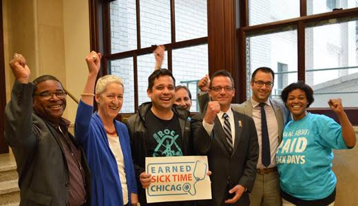 Chicagoans win paid sick leave law