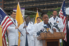 Doctors rally for more perfect health care system