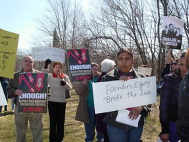 RI workers go to court, press lawmakers to protect rights
