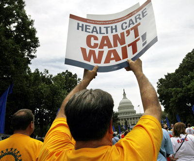 Unionists demand universal health care at DC rally
