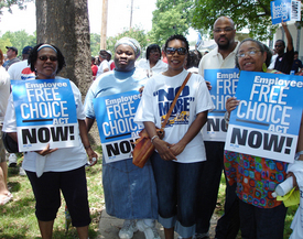 Razorbacks rally for Employee Free Choice