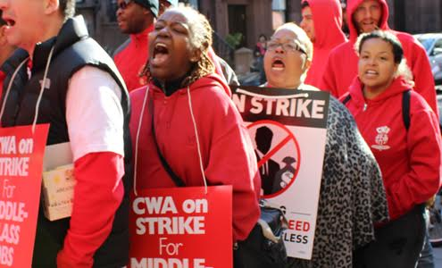 Striking Verizon workers introduce virtual picket line