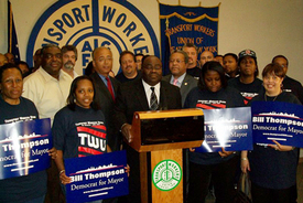 NYC transit union moves to defeat Bloomberg
