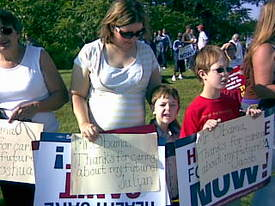Union families show anti-Obama rally what real Americans want