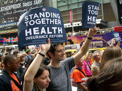 NY health care rally honors Ted Kennedy