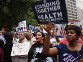 Houston turns out for health care reform