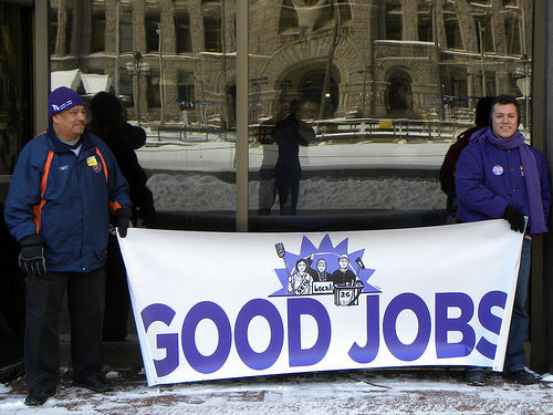 Ohio jobs march hits Wall St. greed