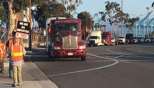 Wage theft, labor law-breaking force L.A. port truckers into another strike