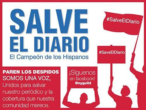 News Guild campaigns to save NYC's top Spanish-language daily, El Diario