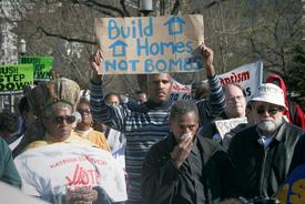 Katrina homeless march on White House