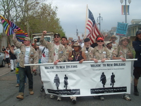 Veterans march to New Orleans: Make levees, not war
