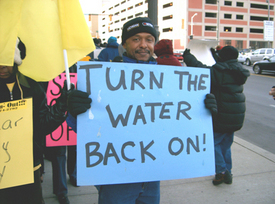 Detroiters battle over water issues