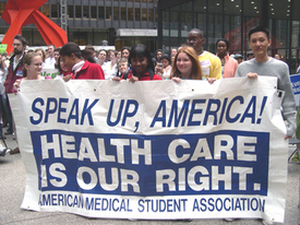 Medical students rally for universal health care