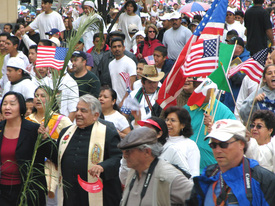 Immigrant rights demo stresses family, values
